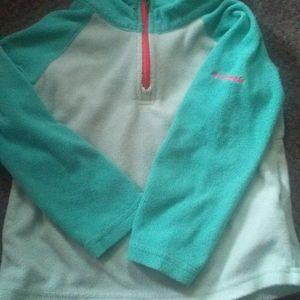 Columbia quarter zip light weight fleece pullover